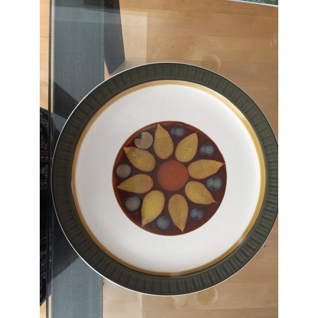 "Asian 1970's Casual Ceram ""Electra"" Dinner Plates - Set of 7 For Sale - Image 3 of 9"