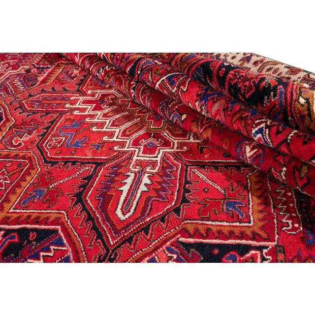 "Vintage Persian Heriz Rug, 10'2"" X 12'10"" For Sale - Image 11 of 12"