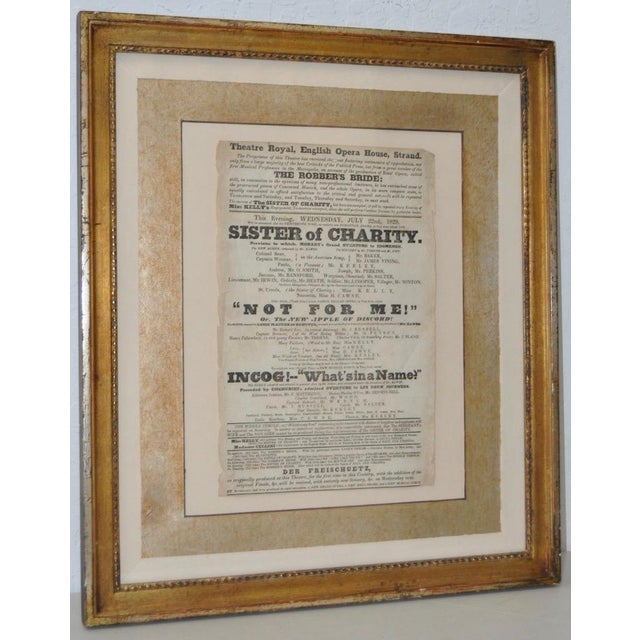 "Theatre Royal, English Opera House, Strand ""Sisters of Charity"" Flyer c.1920s This is an early 19th century advertisement..."