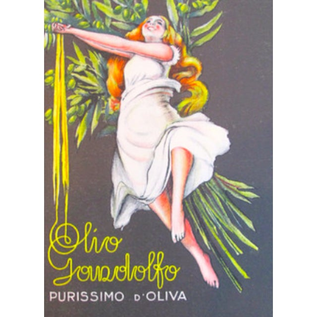 1920s Italian Olive Oil Advertisement - Sign - Image 1 of 2