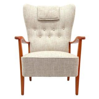 1940s Vintage Dux Danish Modern High Back Chair For Sale