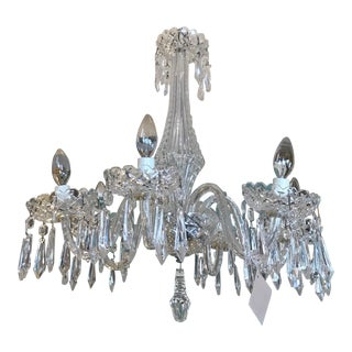 Waterford 6 Light Crystal Chandelier For Sale