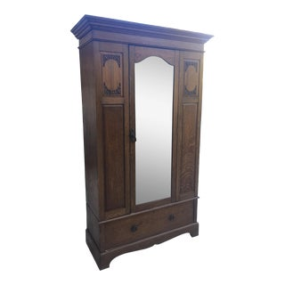 Maple & Co. Edwardian Era Antique Armoire/Wardrobe
