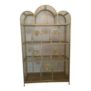 Mid-Century Oversized Vintage Bird Cage Display Case For Sale