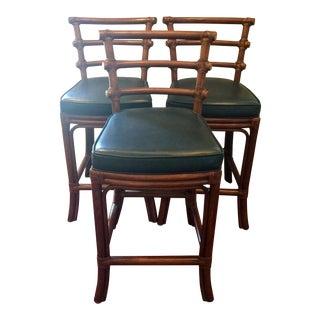 Harden Furniture Leather Bar Stools - Set of 3