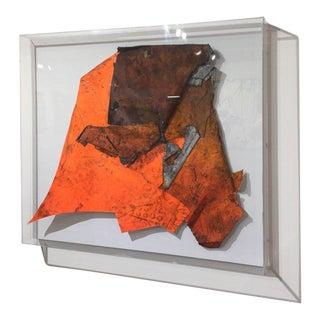 Fluorescent Orange Afghan War Kite by Wesley Kimler For Sale