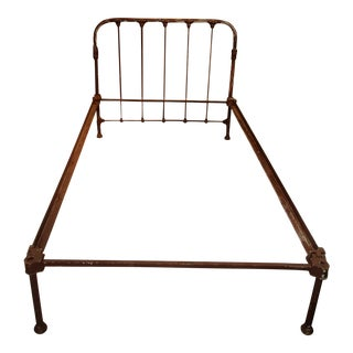 Early 1900s Rustic Iron Twin Bed