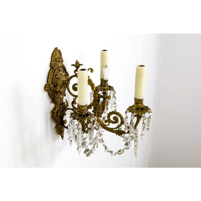 1910s Highly Detailed Belle Epoque Style Sconces (Pair) For Sale - Image 5 of 13