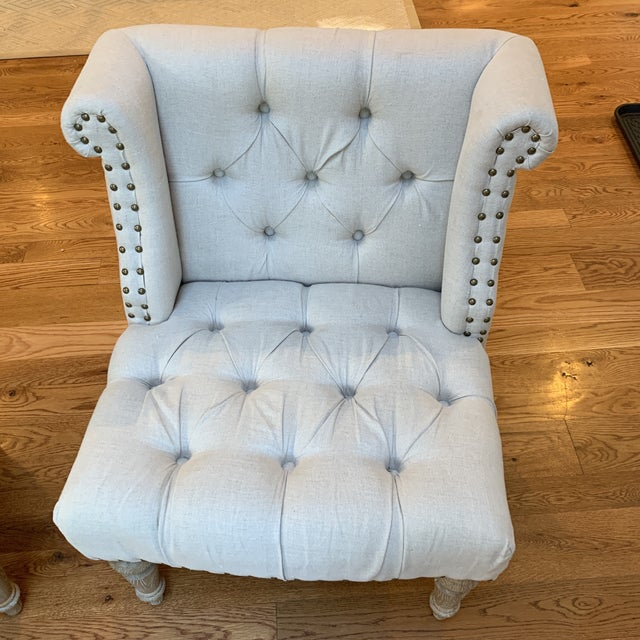 These Lillian August Chairs have been in an obscure part of our house since we bought them and have been sat in only a few...