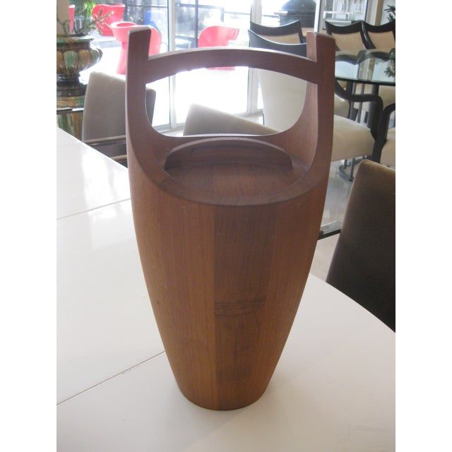 This listing is a mid-century modern ice bucket by jens quistgaard. It is in great shape with signature on bottom and the...