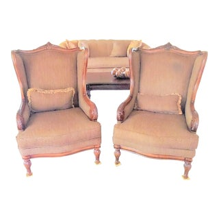 Schnadig Tweed Arm Chairs - A Pair For Sale