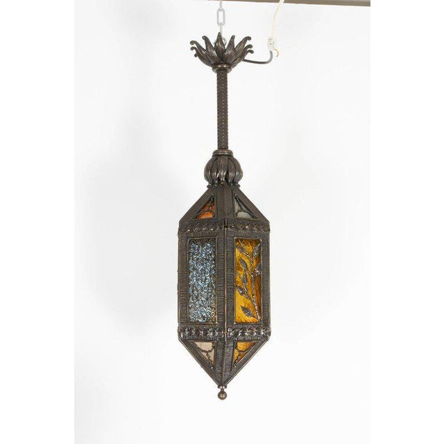 Kiss Wrought Iron Lantern For Sale - Image 9 of 9