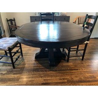 Dark Brown Distressed Pedestal Table Preview