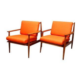 Mid Century Curated Pair Danish Lounge Chairs- A Pair For Sale