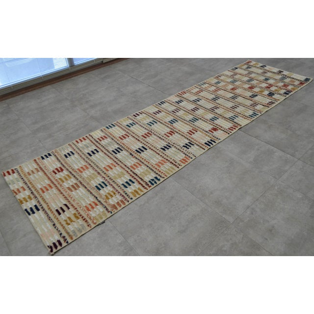 Hand Knotted Oushak Runner Rug - 2′8″ X 9′10″ - Image 4 of 10