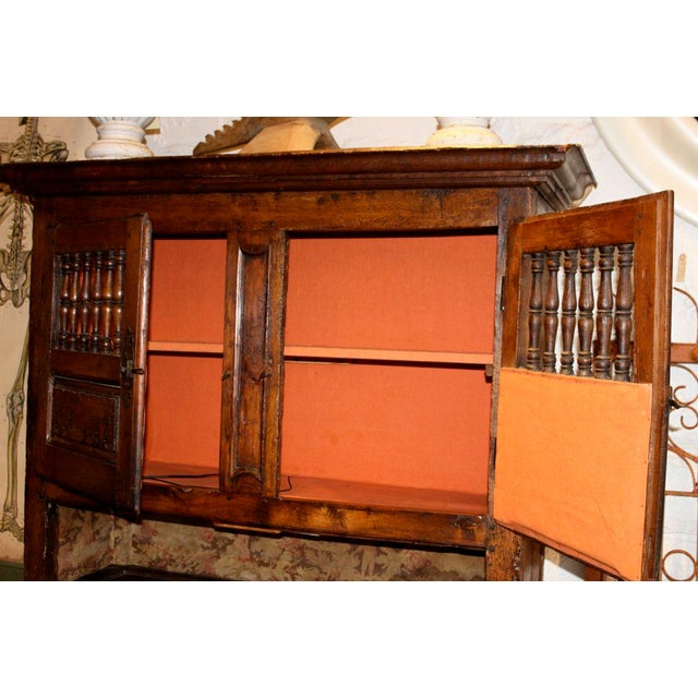 19th Century French Walnut 4 Door Cabinet For Sale - Image 9 of 11
