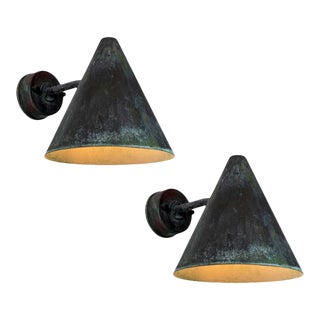 1950s Hans-Agne Jakobsson 'Tratten' Outdoor Sconces - a Pair For Sale