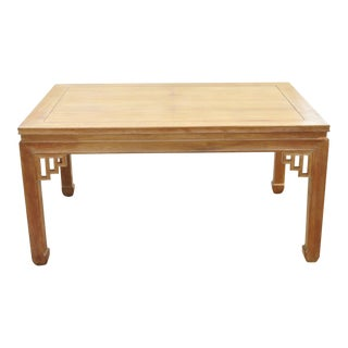 Vintage Mid Century Dynasty Transorient Teak Wood Ming Style Rectangular Dining Table For Sale