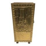 Image of Vintage Brass Umbrella Stand For Sale