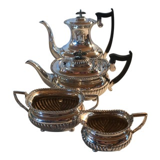 Sheffield Plate Footed & Fluted Coffee Service - Set of 4 For Sale