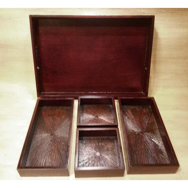 Wood Serving Tray & Bins - Image 3 of 6