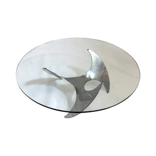Aluminium and Glass Propeller Table by Knut Hesterberg For Sale