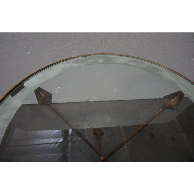 Brass Brass Tripod Arrow Base Side Table For Sale - Image 7 of 10