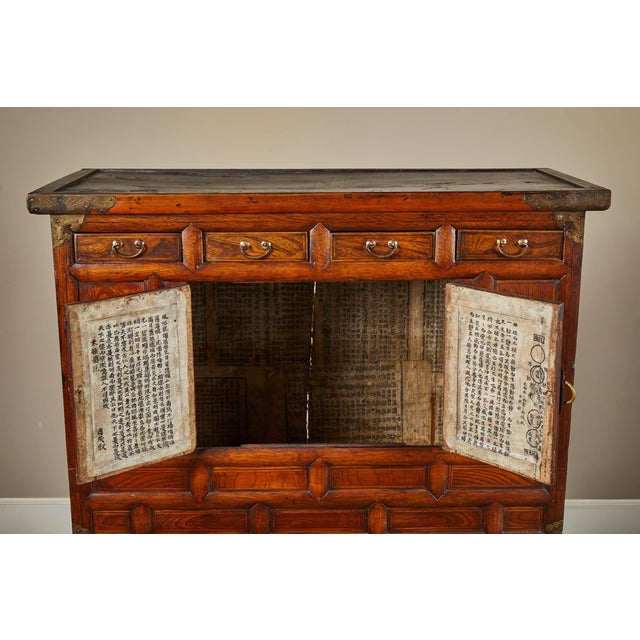 Black 19th C. Korean Chest on Chest with Butterfly Hardware For Sale - Image 8 of 10
