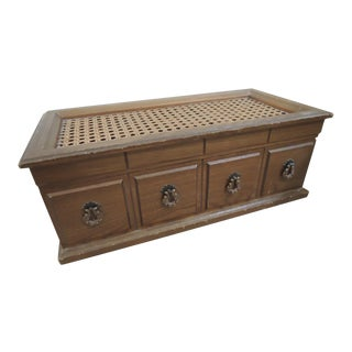 Cane Top Oak Wood Jewelry Music Box For Sale