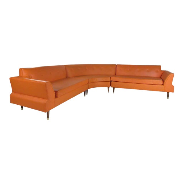Mid-Century Modern Three-Piece Sectional Sofa For Sale