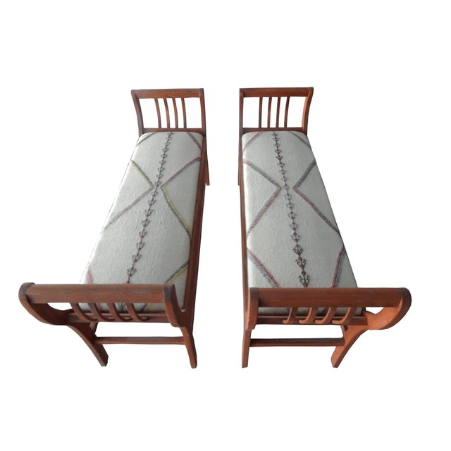 Eclectic Iron and Kilim Upholstered Coffee Table Ottoman ... |Kilim Ottoman Bench