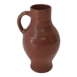 French Glazed Pottery Water Jug For Sale