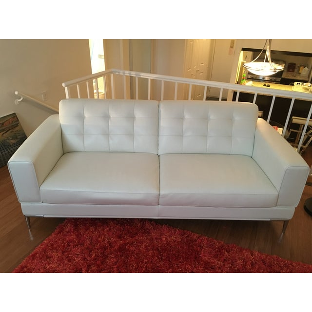 Modani Bristol White Leather Couch - Image 2 of 5