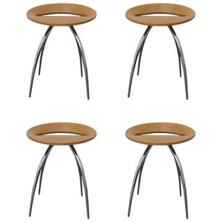 Magis Lyra Stools by the Design Group Italia - Set of 4 For Sale