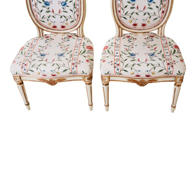 Early 20th Century Early 20th Century Gustavian Chairs- A Pair For Sale - Image 5 of 7