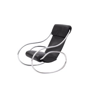 Sculptural Rocking Chair in Tubular Chrome For Sale
