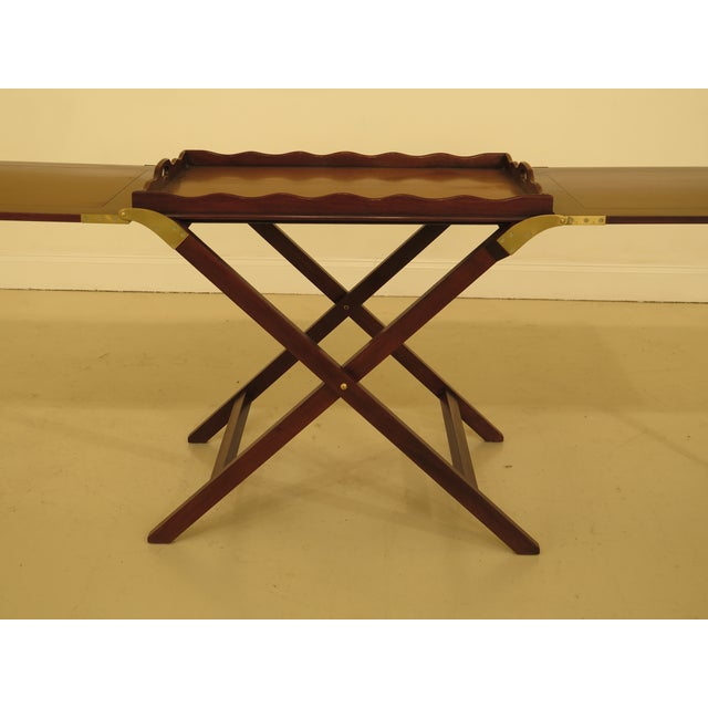 Baker Furniture Company Baker Mahogany Serving Tray Table For Sale - Image 4 of 13