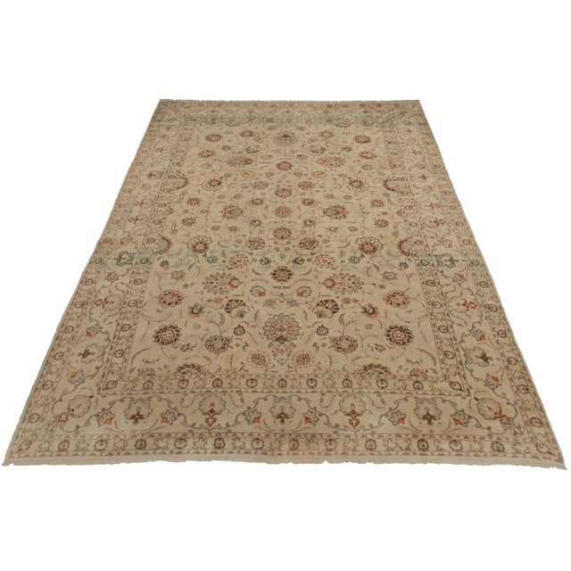 Antique Hand Knotted Wool Persian Kashan. All-over design. Great for any spot in your home or office! 9′1″ × 13′.