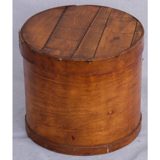 Vintage Rustic Round Wood Lidded Box - Image 2 of 11