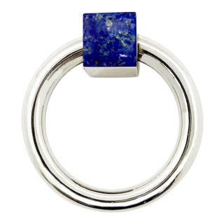 Addison Weeks Porter RIng Pull, Nickel & Lapis For Sale