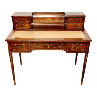 19th Century French Marquetry Inlaid Desk For Sale