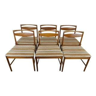 1960s Mid-Century Modern Tom Robertson for A.H. McIntosh Rosewood Dining Chairs- Set of 6 For Sale