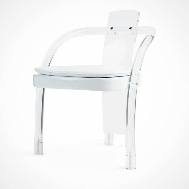 Hill Manufacturing Lucite Waterfall Armchairs - Set of 4 For Sale - Image 5 of 11