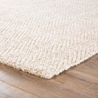 Jaipur Living Haxel Handmade Chevron White/ Beige Area Rug - 8′ × 10′ Preview