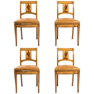 Mid 19th Century Biedermeier Side Chairs- Set of 4 For Sale