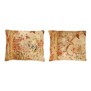 Vintage Art Deco Decorative English Needlepoint Pillows - a Pair For Sale
