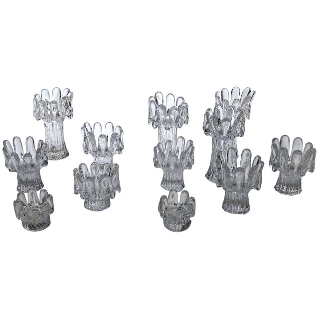 Set of 12 Crystal Candleholders For Sale In Los Angeles - Image 6 of 6