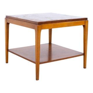 Lane Rhythm Mid Century Square Walnut Side End Table For Sale