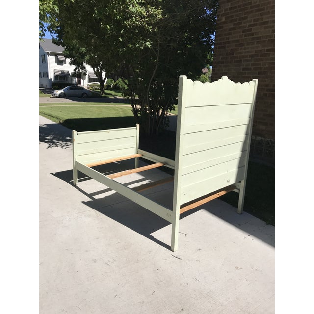 20th Century Americana Green Painted Twin Bed For Sale - Image 9 of 10