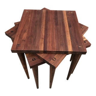 Mel Smilow Stacking Walnut Tables For Sale